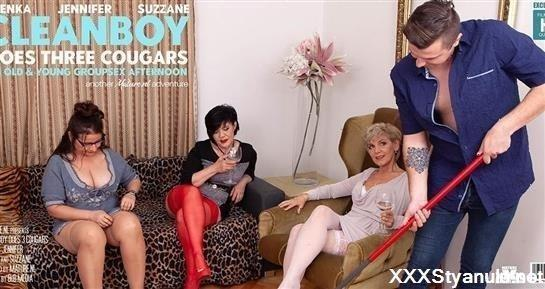 Irenka - This Cleanboy Gets Seduced Into A Cougar Groupsex Adventure [HD]