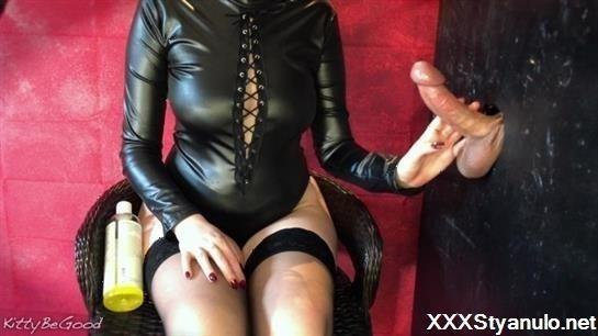 KittyBeGood - Gloryhole Edging Session Ends With Huge Cumshot On Nylons [FullHD]
