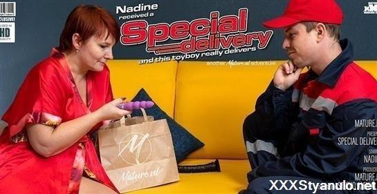 Nadine - Mature Got A Special Delivery From A Toyboy [FullHD]