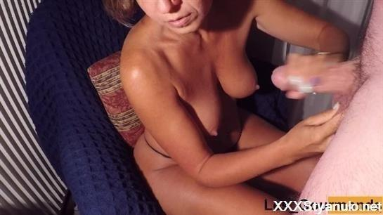 LesGourmands - Milf Sucks A Big Cock And Swallows All The Cum Before Playing With It! [HD]